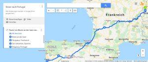 Portugalreiseroute